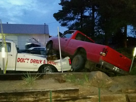 Alleged Intoxicated Driver Hits Truck Sporting Anti-DUI Message