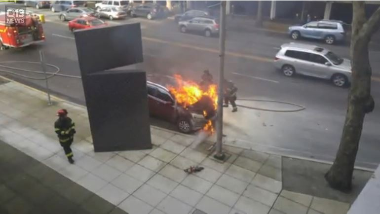 mom saves kids from burning car 1