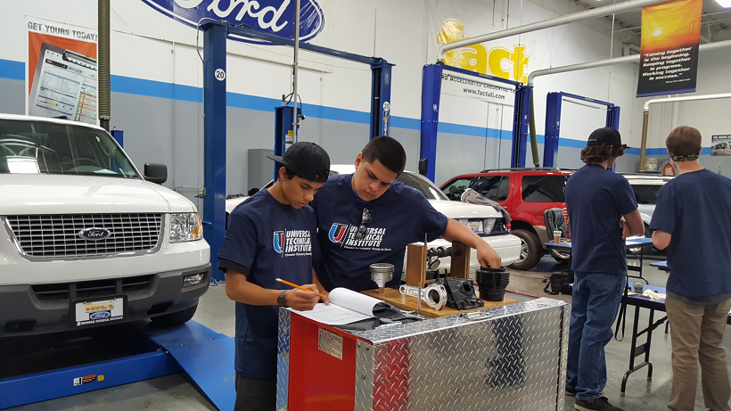 High School Students Win Big in Auto Tech Competition at UTI Rancho Cucamonga