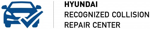 Hyundai Recognized Collision Repair Center Logo BlueBlack