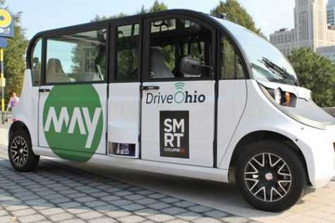Smart Columbus, which is working to innovate transportation in the city, unveiled the driverless shuttles at an event Sept. 19.