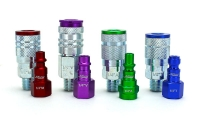 New Colorfit™ plugs and couplers are made of durable steel and anodized aluminum.