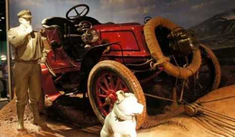 2 Men, Dog Make 1st Transcontinental Drive in 1903