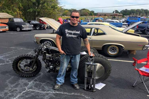 Steven Youngblood at Youngblood Kustomz in Buford, GA, is winning awards for his amazing paint jobs on cars, trucks and motorcycles.