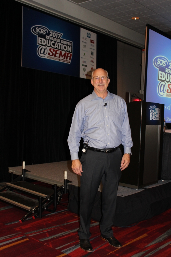 John Shoemaker, business development manager for BASF, shared tips on blueprinting during the SEMA show in Las Vegas.