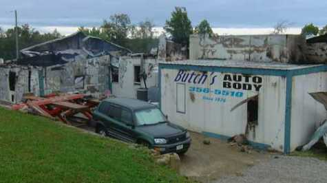 Butch's Auto Body in northern Kentucky was destroyed a second time after an overnight fire.