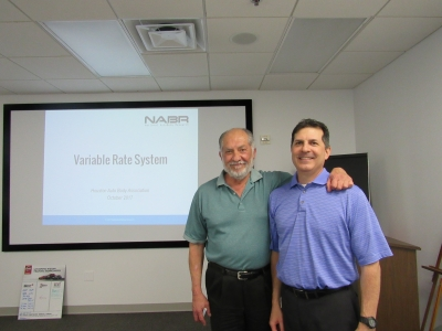 NABR's Sam and Richard Valenzuela teach HABA members about their Variable Rate System.