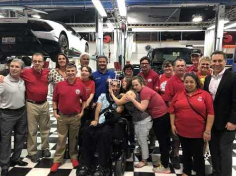 Russ Swift of Fantastic Finishes partnered with Sheriff Ric Bradshaw of the Palm Beach County Sheriff's Office to refurbish and gift a 2018 Dodge Caravan to The Hometown Foundation for one of its Dream Riders, Sebastian Castano.