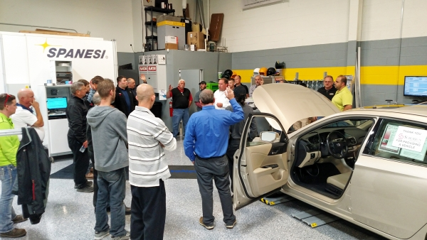 ASA-MI members learned about the relationship between structural repair and vehicle calibration.