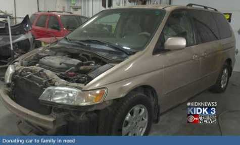 Technical Careers High School in ID Prepares Car To Be Donated to Family in Need