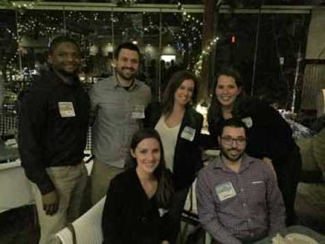 Young industry professionals gathered at the Taverna Agora in Raleigh, NC, on Feb. 8.