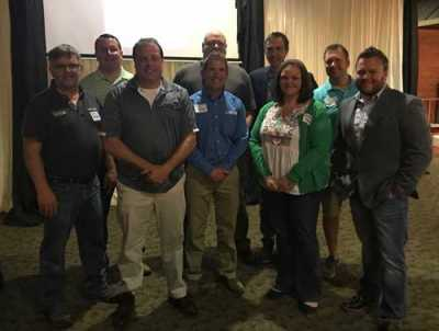 NCACAR's Board of Directors poses with Jake Rodenroth and David Luehr.