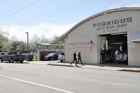 Perrigo's Auto Body Shop owner Dan Foy threatened to sue the city of Santa Cruz if a homeless encampment were opened in the parking lot next to his shop.
