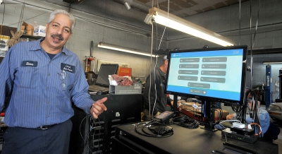 Steve Lima, owner of Lima's Auto Repair in Attleboro, MA, is among the many  auto inspection station owners frustrated with the state's new inspection system that has not yet gone online, despite the Oct. 1 mandatory deadline.
