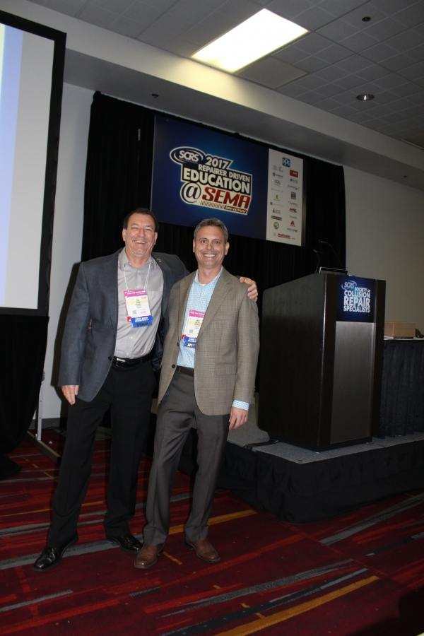 AkzoNobel Senior Services Consultants Tim Ronak and Greg Griffith presented an education session on OEM certifications at the 2017 SEMA Show in Las Vegas.