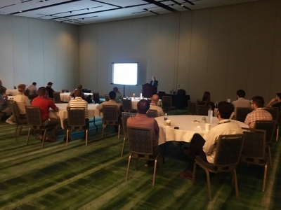 Larry Pavey spoke about industry trends at YANG's National Harbor Regional Meet-Up on Sept. 13.