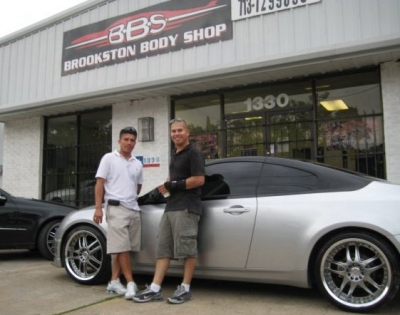 Co-owners of Brookston Body Shop in Houston, Texas: Robert Castellano (right) and his brother, Will.