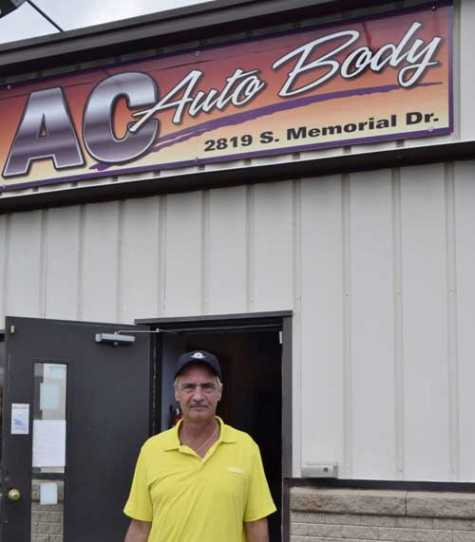 Anthony A. Coey is shown outside his business, A.C. Auto Repair, 2819 S. Memorial Drive, Racine, WI.