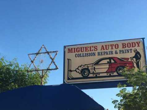 Star of David Atop AZ Auto Body Shop Honors Jews of Mexico