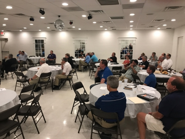 Around 85 collision repair professionals gathered at NCACAR's one-year anniversary meeting.