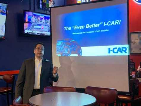 Robbie Saladino, I-CAR business development manager for the south central region, delivered a presentation on I-CAR's new and exciting changes.