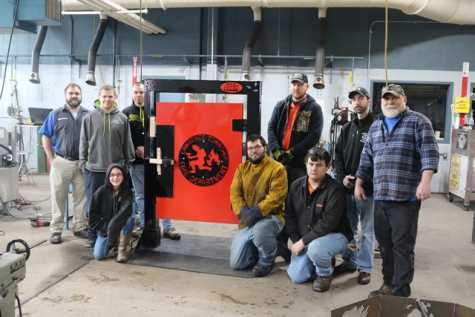 CCCTC Students in PA Construct Forcible Entry Door Simulator for LT Fire Dept.
