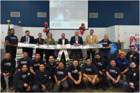 UTI Rancho's inaugural welding class celebrates the program with UTI leadership, City of Rancho Cucamonga Mayor L. Dennis Michael and County of San Bernardino Second District Supervisor Janice Rutherford.