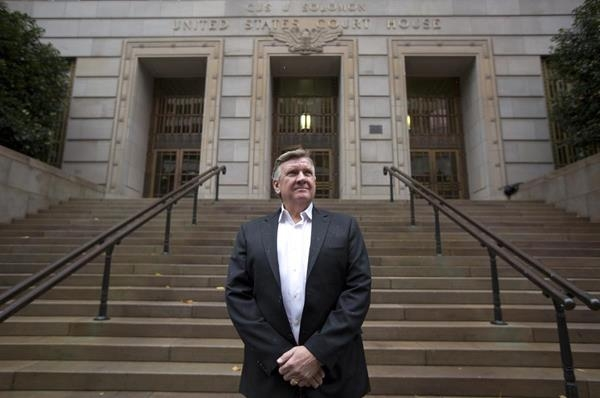 Leif Hansen stands in front of the Gus J. Solomon United States Courthouse in Portland, OR.