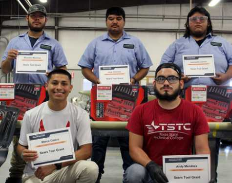 Five TSTC Auto Collision and Management Technology students were awarded Sears Craftsman toolkits.