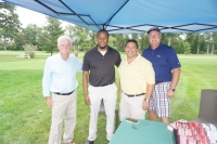 AASP/NJ President Jeff McDowell (far left) poses with golfers at 13th Annual Lou Scoras Memorial Golf Outing.