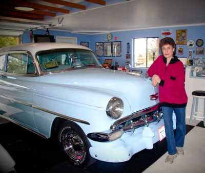 Teresa Aquila owns a fleet of 13 classic vehicles, all of which she completely restored herself.