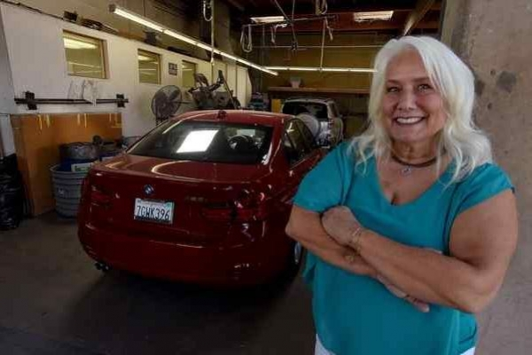 "San Rafael resident Laura Bertolli sold the longtime family business, Bertolli's Auto Body Shop, and plans to join the marijuana industry. ""It can just calm everyone down and bring peace,"" she says."