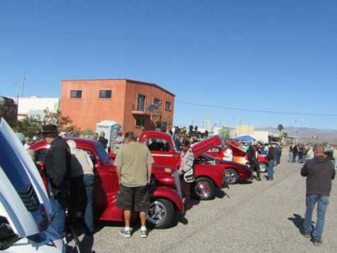 Elite Customs, a Parker, AZ, body shop, celebrated 30 years in business with a street party and custom car show Saturday, Feb. 23. Attendees could check out custom cars, trucks and motorcycles parked on Joshua Avenue.