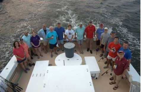 A group of anglers enjoyed a morning of fishing aboard The Relentless.