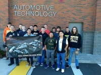 Auburn School District automotive students after the grant award was announced. Courtesy photo