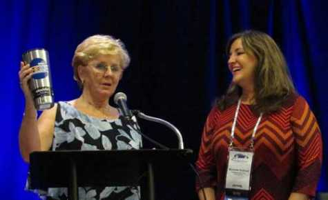 Outgoing Chair Petra Schroeder passed the torch to Incoming Chair Michelle Sullivan.