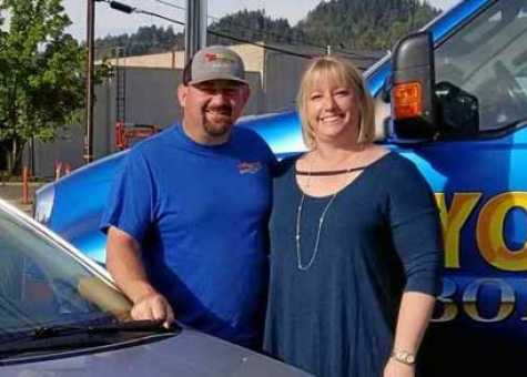 Jeff and Lisa Yokum of Yokum's Body Shop are hosting the 2018 car giveaway with Willits Furniture Center, Adam's Tire & Auto Service Center, Ace Copy & Shipping and Mehtlan Insurance Agency.