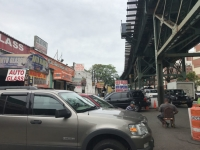 Fears of displacement have been the talk of Jerome Avenue since 2014 when the city announced it planned to rezone a major part of the stretch to make room for affordable housing. Pictured here is a string of mechanic shops found on Jerome Avenue near East 169th Street.