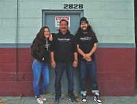 From left: Brianna, David and Brenden Habu now run the show at Panel Craft in Berkeley, CA.