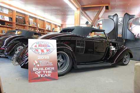 This 1936 Ford Roadster was rebuilt by Dale Boesch of Boesch Auto Body in Humphrey, NE. It earned numerous awards, including 2018 Builder of the Year from the National Street Rod Association during competition at the Louisville, KY, Convention Center.