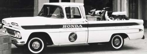 02 original chevy delivery truck in front of first american honda office 1 resize md