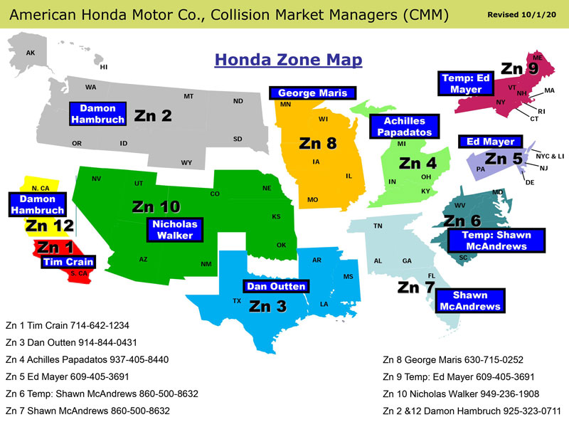 Honda Zone map web