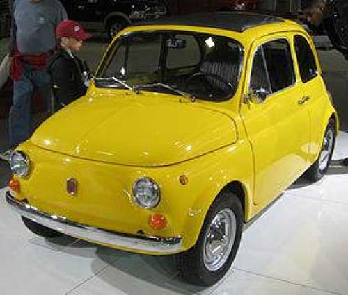 Worlds smallest cars Fiat 500 web