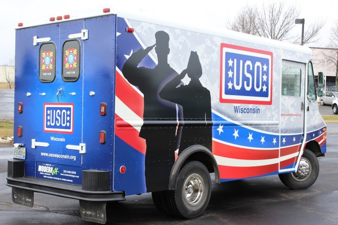 Wisconsin Auto Body Shop Creates USO Mobile Canteen for Troops