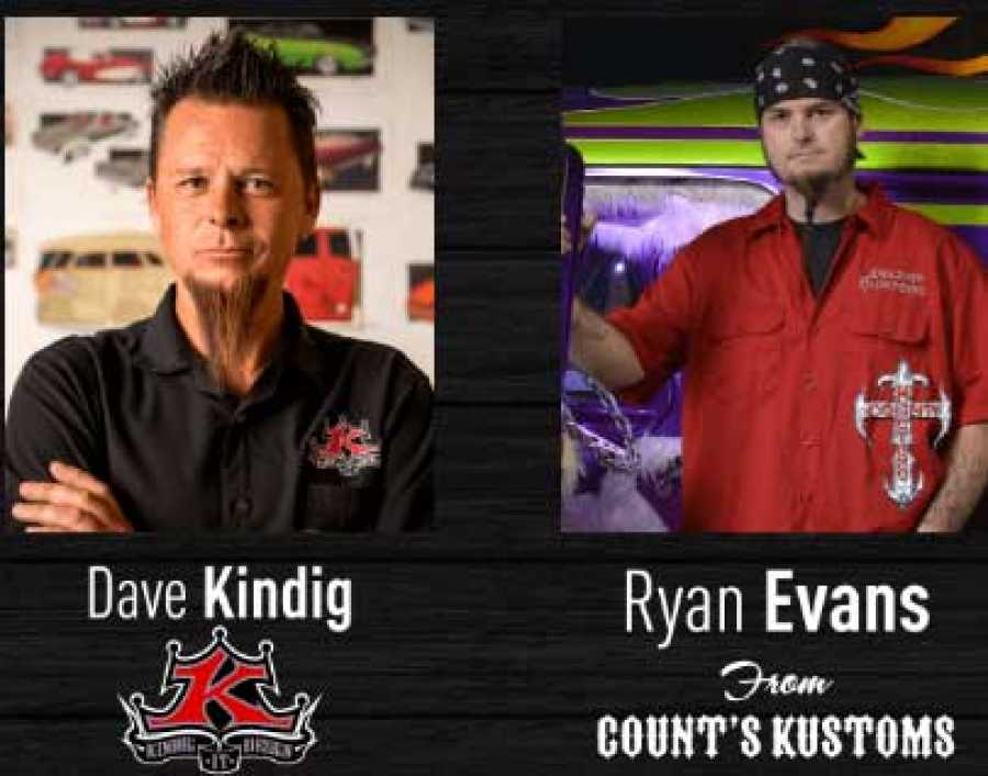 Ryan Evans of 'Counting Cars' and Dave Kindig to Appear at
