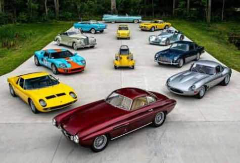 Some of the 230 cars going to auction May 1-2 in Elkhart, IN, from a single collection.