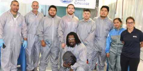 Eight second-year students and two fledging painters from local shops completed the training program at Contra Costa College's Automotive Collision Repair Technology School.