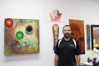 A technical instructor at the AkzoNobel training facility in Orange, CA, Chris Harsh is also a highly talented artist.