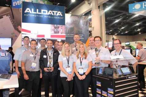 The ALLDATA team at the 2018 SEMA Show in Las Vegas, NV.