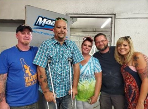 Pictured, left to right, are James Houser, Jason Mullins, Holly Mullins, Matt Davlin and Carley Neff.